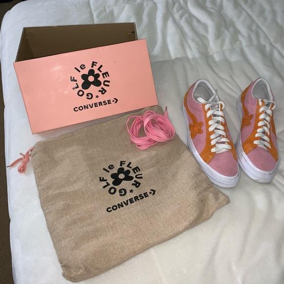 Golf Le Fleur Shoes Pink And Orange X Converse Poshmark